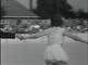 Figure skating demonstrations on roller skates